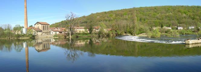 Microcentrale de Boussières le long du Doubs